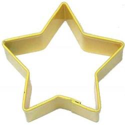 Pepparkaksform Stjärna gul