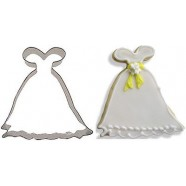 Pepparkaksform Brudklänning