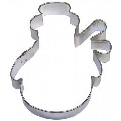 Pepparkaksform Snögubbe rund med halsduk