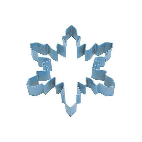 Pepparkaksform Snöflinga stor ljusblå