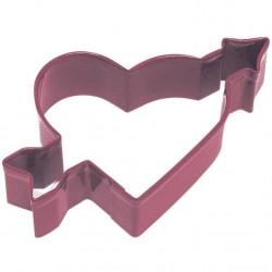 Pepparkaksform Hjärta med pil röd