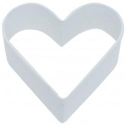 Pepparkaksform Hjärta vit